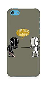 AMEZ Fencing Star Wars I Am Your Father Back Cover For Apple iPhone 5C