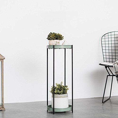 ZYN Blumen-Stand-Schmiedeeisen-mehrschichtiger Balkon-Innenboden-Wohnzimmer-Anlagen-Stand (Farbe :...