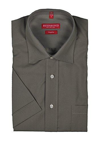 Bügelfreies Herren Kurzarm Hemd Marke Redmond mit Kent-Kragen in verschiedenen Farben, Stil: Regular Fit (150900) Braun(30)