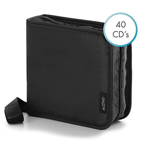 CD Tasche für 40 DVD/CD/Blu-ray Discs, CD Organizer für Auto & LKW, Aufbewahrungstasche inkl. schützender Transport-Hüllen