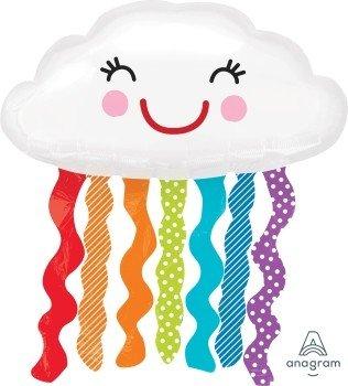 Wanna Party Rainbow Cloud SuperShape (White)