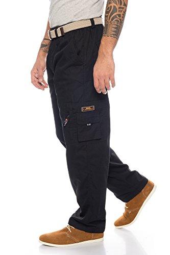Fashion Herren Thermohose mit Dehnbund - mehrere Farben ID561, Größe:M;Farbe:Schwarz