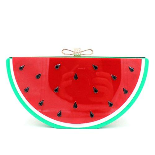 WYB Europa-Bogen / Strass Wassermelone / Zitrone Beutel / Obstbeutel / Abendbeutel Acryl watermelon