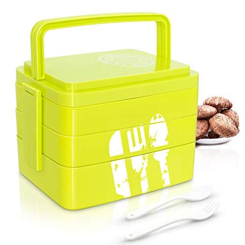 Betuy Brotdose I Erwachsene Bento Box I Lunchbox 3 SchichtenI Spülmaschinengeeignet I Mikrowellengeeignet I BPA Schadstofffrei I Geruchs- und Geschmacksneutral