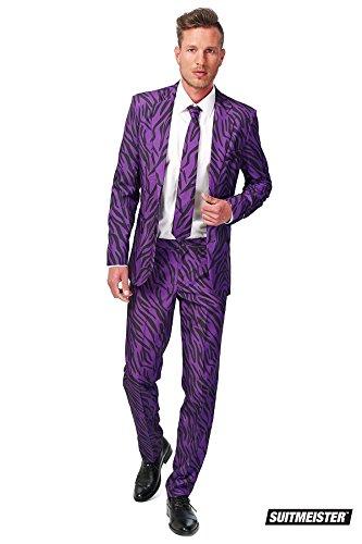 Generique - Violetter Tiger-Anzug Suitmaster für Herren -