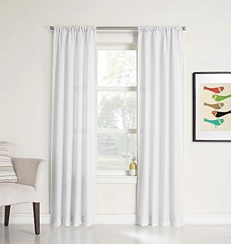 No. 918 Marley Semi-Sheer Rod Pocket Curtain Panel, 40 x 95 Inch, White by No. 918