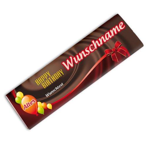 Preisvergleich Produktbild Herz & Heim® riesige Schokolade zum Geburtstag mit Wunsch- Alter,  Name und Text 300g