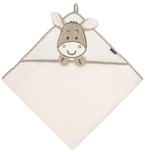 andtuch Baby 100x100 cm mit Esel für Kinder in Beige ()