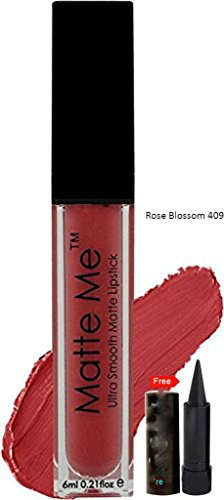 ADS PRO Ultra Smooth True Matte Nude Shade Lipstick Pack of 1 With Free Kajal (roseblossom409)