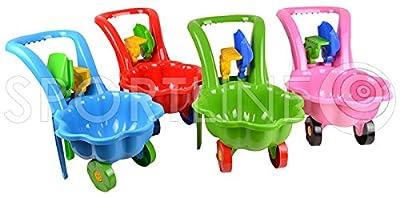 Gartengeräte für Kinder Schubkarre Garten Kinder Spielzeug Sandspielzeug Sandkasten + Schaufel + Rechen