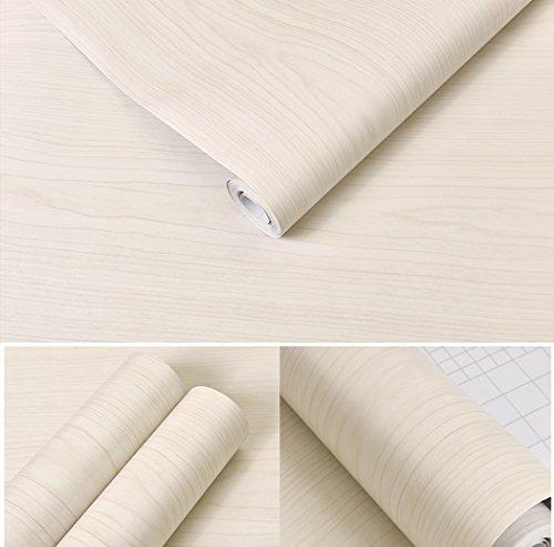 Weiß Ahorn Holz Kontakt Papier Vinyl selbstklebend Regal Schublade Liner für Küche Schränke Regalen Schreibtisch Dresser Möbel Kunst und Handwerk Aufkleber 61 x 500 cm (Handwerk Schubladen Weiß)
