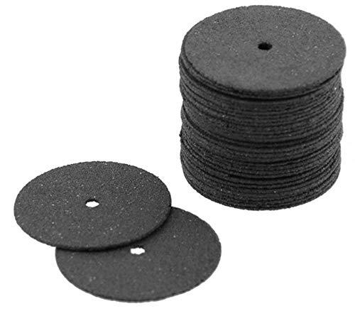 Hpybest Schleifscheibe, 24 mm, Fiberglas, verstärkt, Trennscheibe, für Dremel, Drehwerkzeuge, 36 Stück (Verstärkte Dremel Trennscheibe)