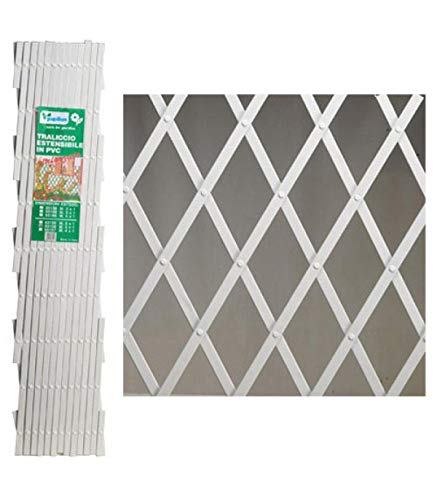 PAPILLON 8091530 Celosia PVC Blanca Extensible 2x1 Metros.