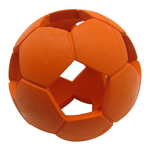 SymbolLife Calcio Giochi per Cani in Gomma Elastica Hollow Arancione