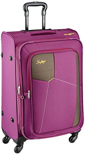Skybags Footloose Rubik Polyester 680 mm Purple Softsided Check-in Luggage (STRUW68EPPL)