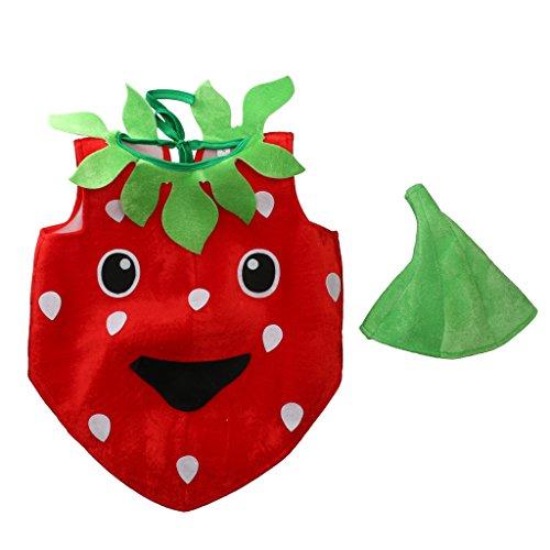 inkind Kostüm Erdbeere aus Flanell zu Karneval Fasching ()