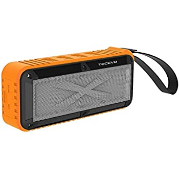 Tecevo - Altoparlante con microfono wireless Bluetooth, per esterni, robusto, impermeabile agli spruzzi, resistente all'acqua, antiurto, a prova di polvere