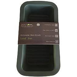 Molde / Bandeja de Silicona para Pan / Bizcocho / Pastel / Tarta, Gris Oscuro de 23 cm