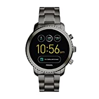 FOSSIL Gen 3 Smartwatch Q Explorist Smoke Stainless Steel / Men's Smartwatch Compatible with Android and iOS - Activity Tracker, Smartphone Notifications, Water resistant
