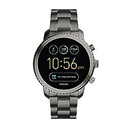 Fossil Herren Smartwatch Q Explorist 3. Generation - Edelstahl - Grau | Eindrucksvolle Smartwatch Mit Praktischen Funktionen | Für Android & Ios