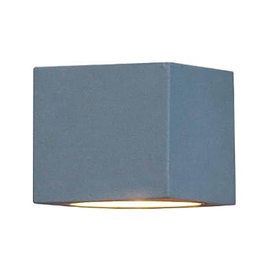 Konstsmide Modena 7341-300 Wandleuchte B: 13,5cm T: 10cm H: 9cm / 1x25W / IP44 / lackiertes Aluminium / grau von Konstsmide - Lampenhans.de