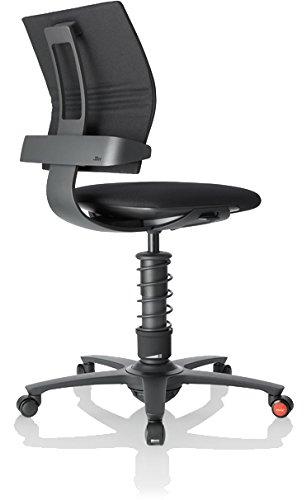 3Dee ergonomischer Bürostuhl/Chefsessel, Bezug: Trevira CS in Farbe schwarz, Feder: BASIC in schwarz