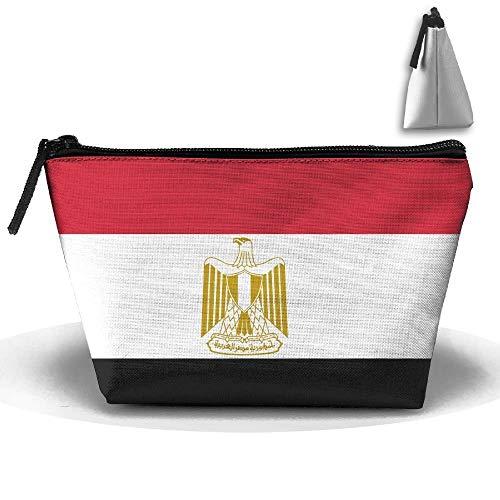 Bandera egipcia Maquillaje portátil Bolsa almacenamiento