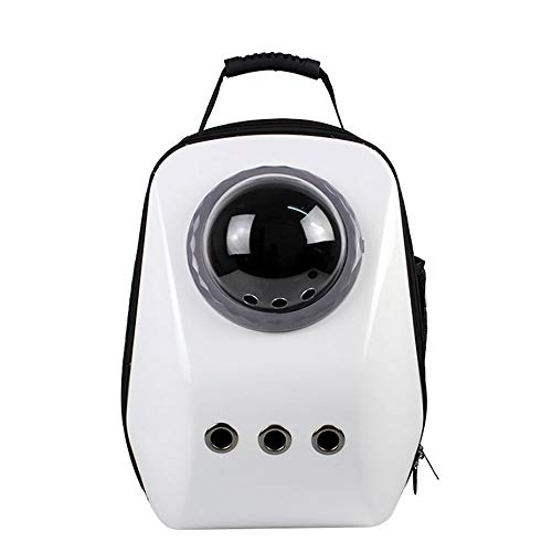 LCLZ Große Raumtasche Große Kapazität Raumtasche Aus Tragbarem, Atmungsaktivem Hundekatzenrucksack Atmungsaktiv (Farbe : White) -