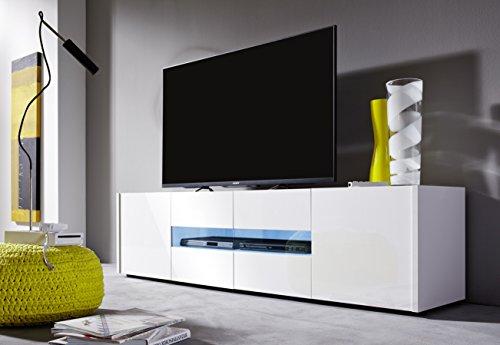 trendteam IM32201 TV Möbel Lowboard weiss Hochglanz lackiert, BxHxT 173 x 45 x 39 cm - 4