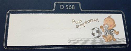 50 pezzi, bigliettini x bomboniera, buon compleanno calcio (milan, inter, juve), segnaposto, confettata (juventus)