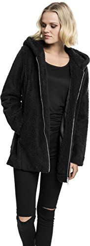 Urban Classics Damen Kapuzenpullover Ladies Sherpa Jacket Schwarz (Black 7)