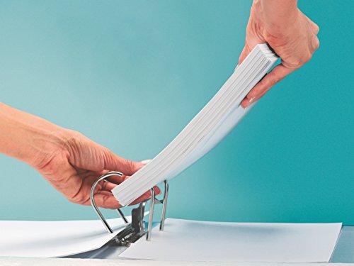Leitz 180° Plastic Lever Arch File Color blanco - Carpeta (Color blanco, A4, 600 hojas, 81 mm, 320 mm, 487 g)
