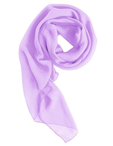 (Dresstells Chiffon Schal Stola für Abendkleider in verschiedenen Farben Lavender 190cmX70cm)