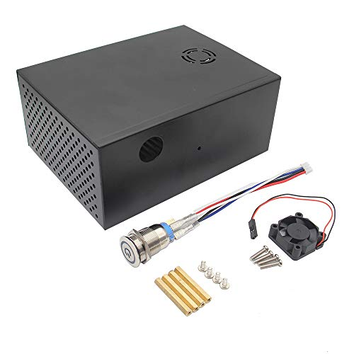 LaDicha X830 3.5 Zoll HDD Sata Storage Board Matching Metal Case/Enclosure + Power Control Switch + Cooling Fan Kit for Raspberry Pi - Fan Control Kit