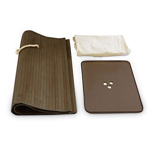 Relaxdays Wäschekorb Bambus H x B x T: ca. 65,5 x 43,5 x 33,5 cm faltbare Wäschetruhe rechteckig mit einem Fassungsvolumen von 83 L mit Wäschesack aus Baumwolle zum Herausnehmen als Wäschepuff, braun -