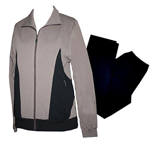 Schneider sportswear survêtement pour femme survêtement tenue d'intérieur sport, fitness, de coton - schokolade/schwarz