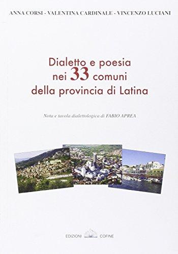 Dialetto e poesia nei 33 comuni della provincia di...