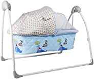 R for Rabbit Lullabies Automatic Swing Cradle with Remote Control (Blue)