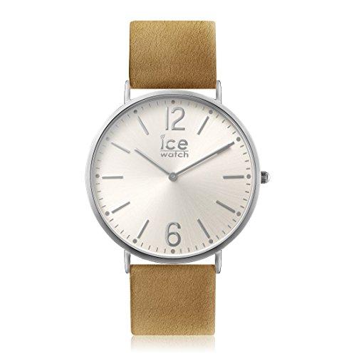 Ice-Watch - CITY Belfast - Reloj beige para Hombre (Unisex) con Correa de cuero - 012821 (Medium)