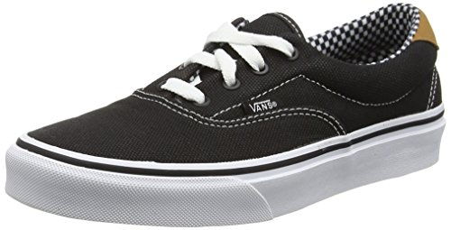 Vans ERA 59 Unisex-Erwachsene Sneakers Black (Waxed Canvas - Black)
