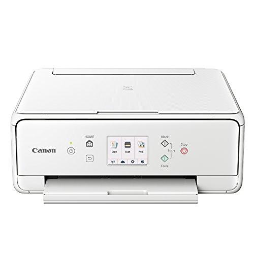 Canon PIXMA TS6051 Farbtintenstrahl-Multifunktionsgerät (Drucken, Scannen, Kopieren, 5 separate Tinten, WLAN, Print App, Duplex, 4.800 x 1.200 dpi) weiß