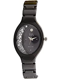 Watch Me Analogue Quartz Black Oval Dial Watch For Girls And Womens Wmal-318