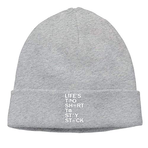 Funny Beanies Momen Life's Too Short to Stay Stock Classic Street Dance Black Beanies Watch Cap -