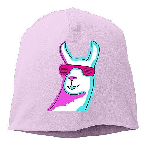 JIEKEIO Funny Baseball Caps Hats Cool Llama with Sunglass Beanies Cap for Men Women