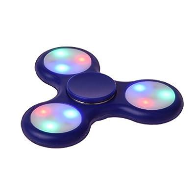 LEEHUR LED Licht EDC Fidget Hand Tri-Spinner Spielzeug, High Speed Stress und Salat Spielzeug