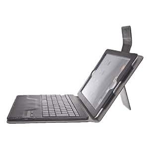 Koolertron - New Bluetooth Sans Fil Clavier AZERTY Séparable Amovible Housse PU avec support Réveil et Veille pour Apple iPad 2 3 4 + film d'écran + stylo + prise antipoussière + bouchons d'oreille