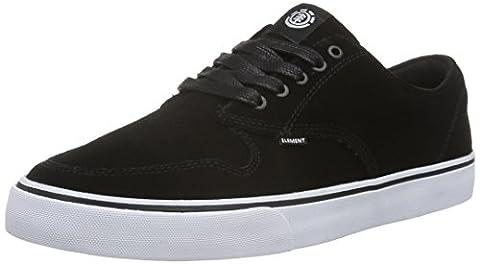 Element Herren Topaz C3 Sneaker, Schwarz (4070 Blk White Suede), 43 EU