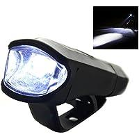 niceEshop(TM) Luz Impermeable de Alta Luz Brillante de la Bici 3W USB Recargable Luz Delantera de la Bicicleta con la Instalación Fácil (Negro)