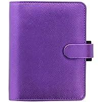 Filofax Saffiano 028770 - Agenda de bolsillo A7 (piel sintética), color violeta metalizado
