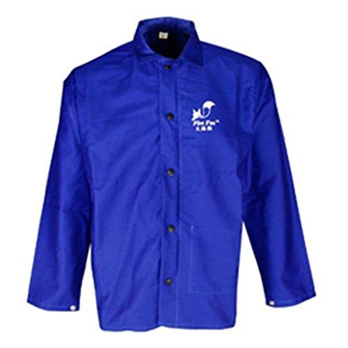 Gazechimp Schweißmantel Schweißerjacke Welding Jacket Schürze M Blau (Kleidung Feuerhemmende)